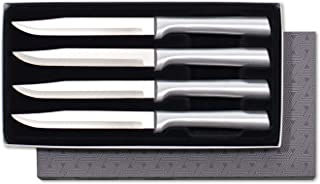 product image for Rada Cutlery 4-Piece Utility Knife Set Stainless Steel Steak Knives with Brushed Aluminum Made in USA, 8-5/8 Inches, Silver Handle