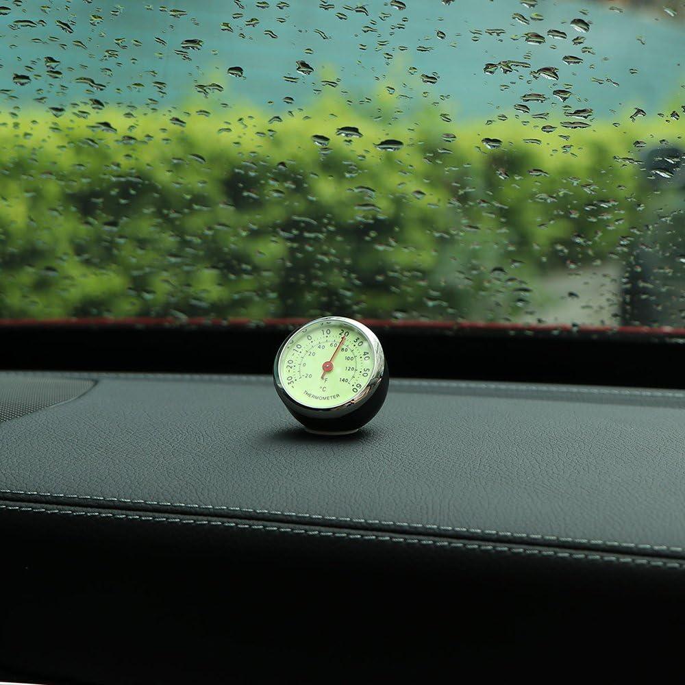 ONEVER Mec/¨nica luminosa term/¨metro del coche del autom/¨vil Term/¨metro decoraci/¨n interior del coche