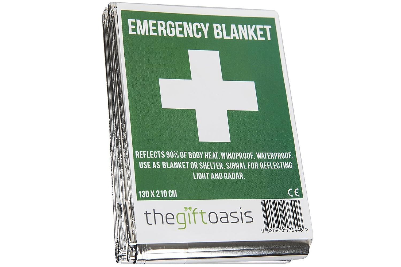 Usages Multiples Chaleur Survie Papier Alu Couverture Bébé Sensorielle - Argent, 10 paquets TGO c50