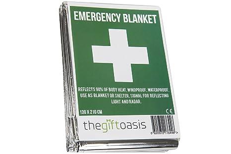 541ecd686d Multi Purpose Heat Survival Foil Blanket Baby Sensory (Single)   Amazon.co.uk  Health   Personal Care
