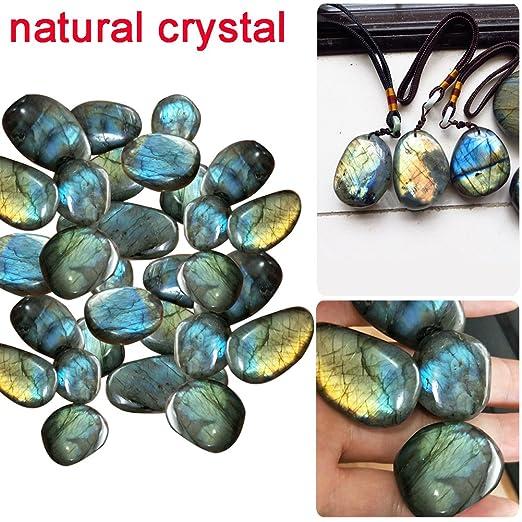 Gaeruite - Piedras de flúor arcoíris naturales - colección de piedra lunar de cristal para decorar palmas pecera, As Show, 1 PCS B : 30-50g: Amazon.es: ...