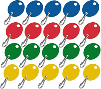 Lucky Line Oval Cabinet Key 100 Blank Tags with Hook
