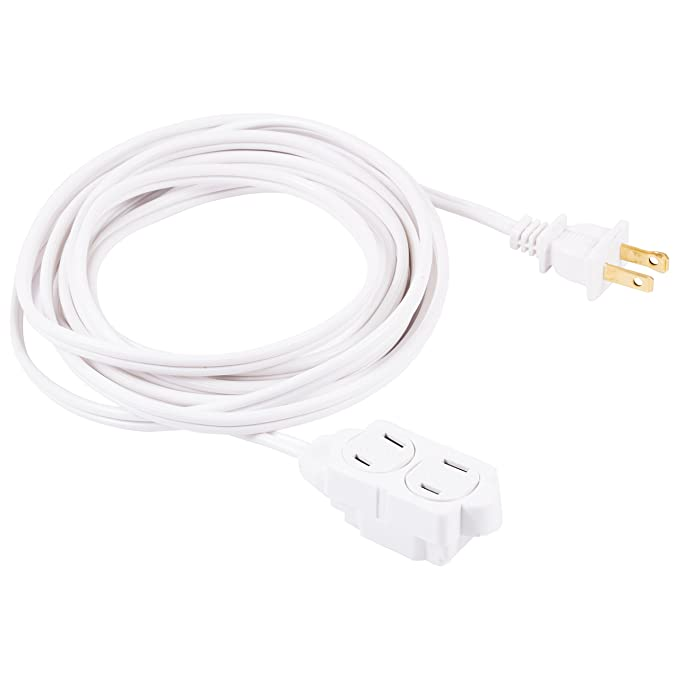 GE 12-Feet Indoor Extension Cord with Tamper Guard, White, 51954-Best-Popular-Product