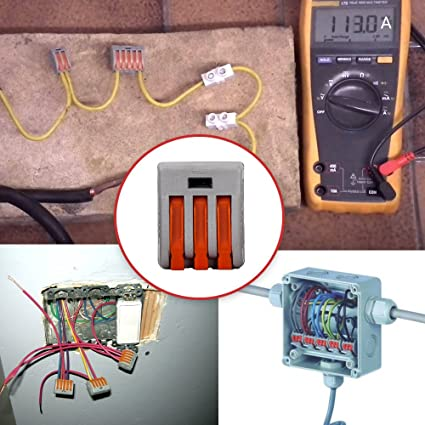 amazon com hifrom wire compact connectors 3 4 port lever nut lever rh amazon com