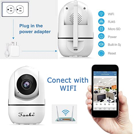 Amazon.com: Home Camera, Toobe 720P HD Wifi Wireless IP ...