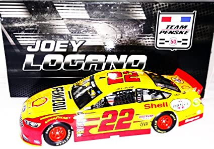 Autographed 2016 Joey Logano 22 Pennzoil Shell Racing Team