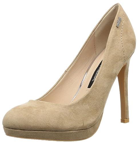 52185 Felpi De Zapatos Mtng Mujer Tacón Talla Color Beige Para Txd0pwS
