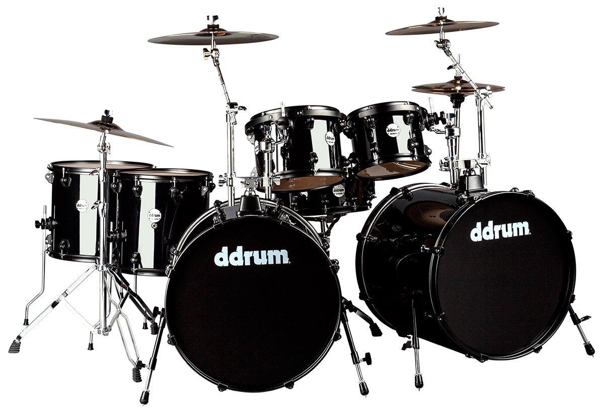 Amazon Ddrum J2DD722 MB Journey Double Bass 7 Piece Drum Set Black Musical Instruments