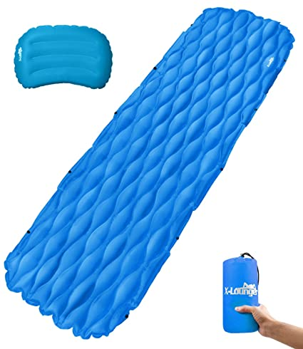 Amazon.com: Sleeping Pad inflable con almohada y diseño ...