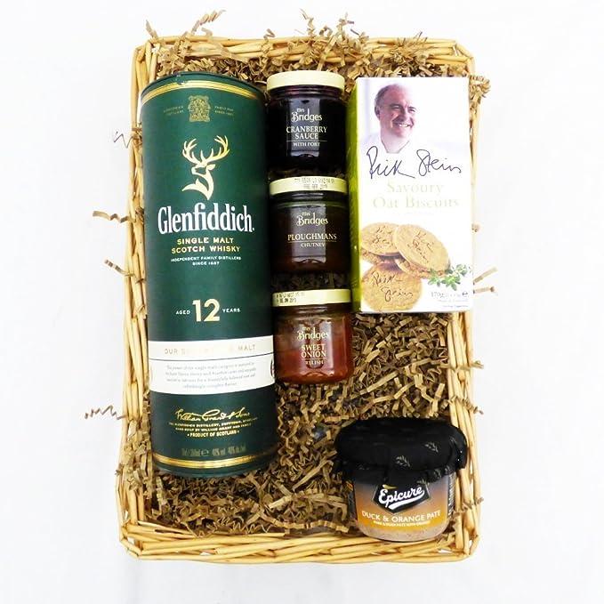 Cesta de regalo Whisky Glenfiddich con delicatessen - Regalo ...