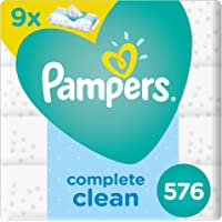 Pampers Complete Clean, 576 Wet Wipes