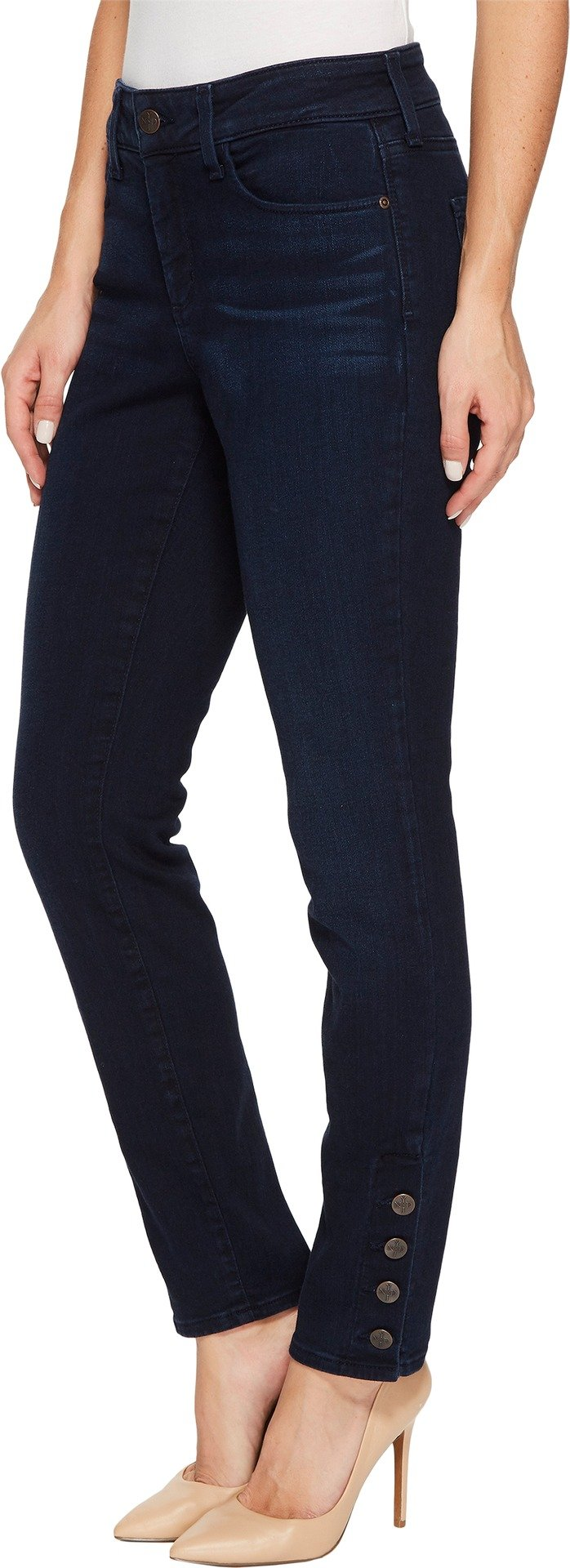 NYDJ Women's Ami Skinny Legging Jeans, Sinclair with Exposed Sideseam Buttons, 8