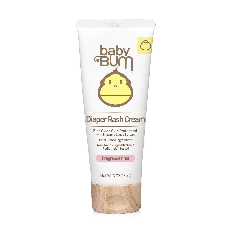 Baby Bum Diaper Rash Cream   Natural Zinc Oxide Ointment for Maximum Relief and Rash Prevention  Fragrance Free   Gluten Free and Vegan   3 FL OZ