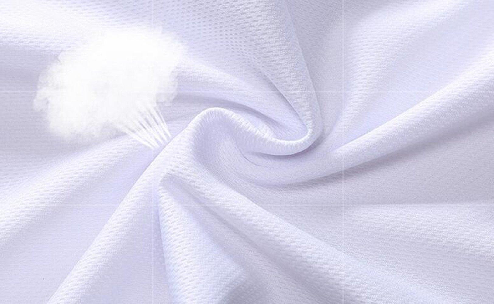 Qi Mai Men Outdoor Sunscreen Fishing Coats Quick Drying Rash Guards 1197 (L, White) by Qi Mai (Image #5)