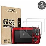 (3 件装)钢化玻璃屏幕保护膜 Olympus TG-5 TG-4 TG-3,AKWOX [0.3mm 2.5D 高清 9H] 防刮光 LCD 高级保护盖