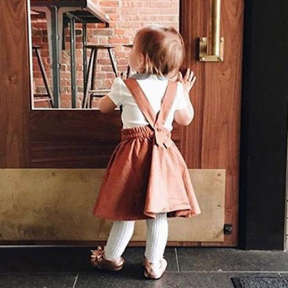 Jimmackey Neonata Bambine Senza Maniche Vestito Solido Increspatura Gonna Bretelle Sundress
