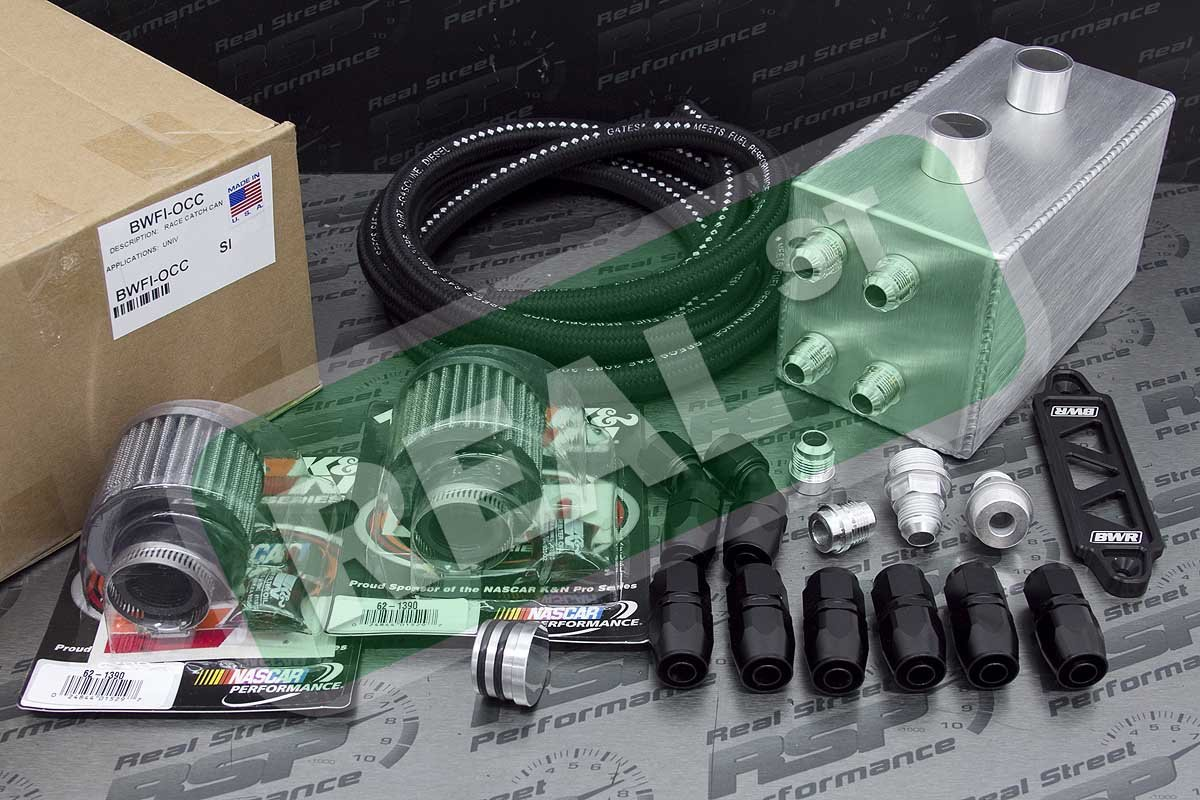 Blackworks Racing Universal Oil Catch Can Kit, Paint, Body