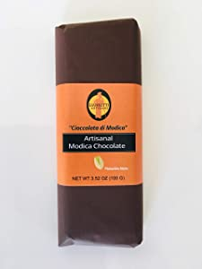 Giannetti Artisans Modica Chocolate Imported from Sicily 3.52 oz (100 g) (Pistachio Nuts)