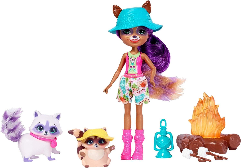 Enchantimals Muñeca con accesorios vámonos de acampada (Mattel FJJ29) , color/modelo surtido