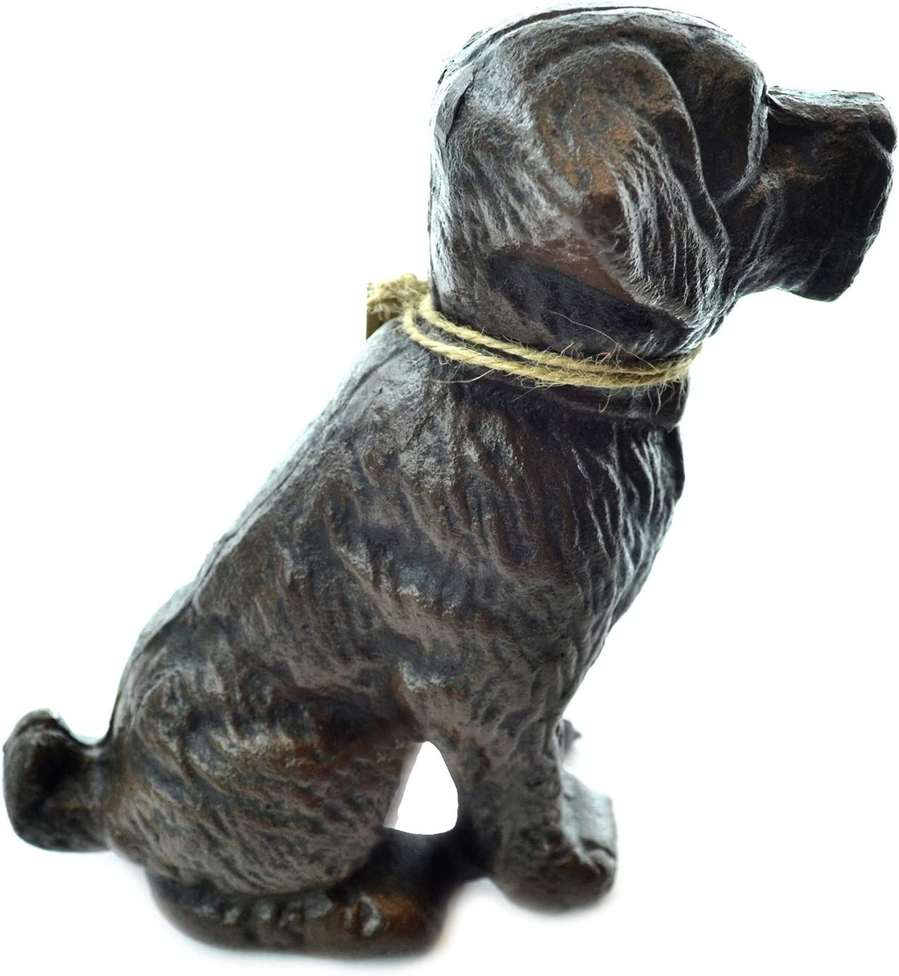 Lulu Decor, Cast Iron Decorative Dog Door Stopper, Doorstops, Sculpture, Dog Statue (Black 9.40 lbs)