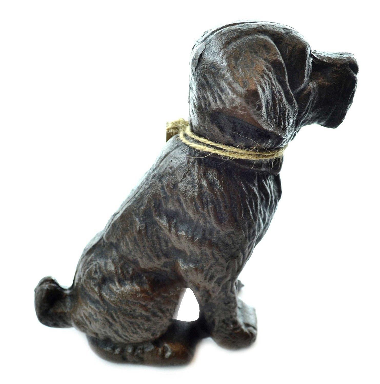 Lulu Decor, Cast Iron Decorative Dog Door Stopper, Doorstops, Sculpture, Dog Statue (Black 9.40 lbs) by Lulu Decor