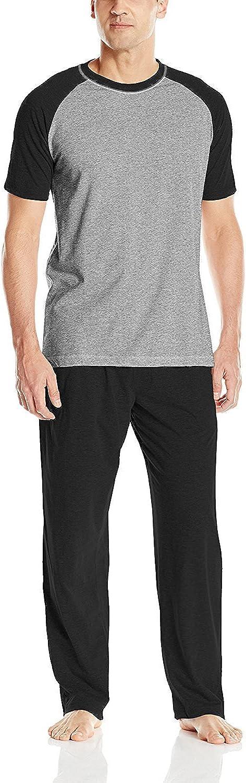Hanes Brands Pajamas, PJ's, Sleepwear, Lounge Set Men's Short Sleeve Tag-Less Shirt and Pants