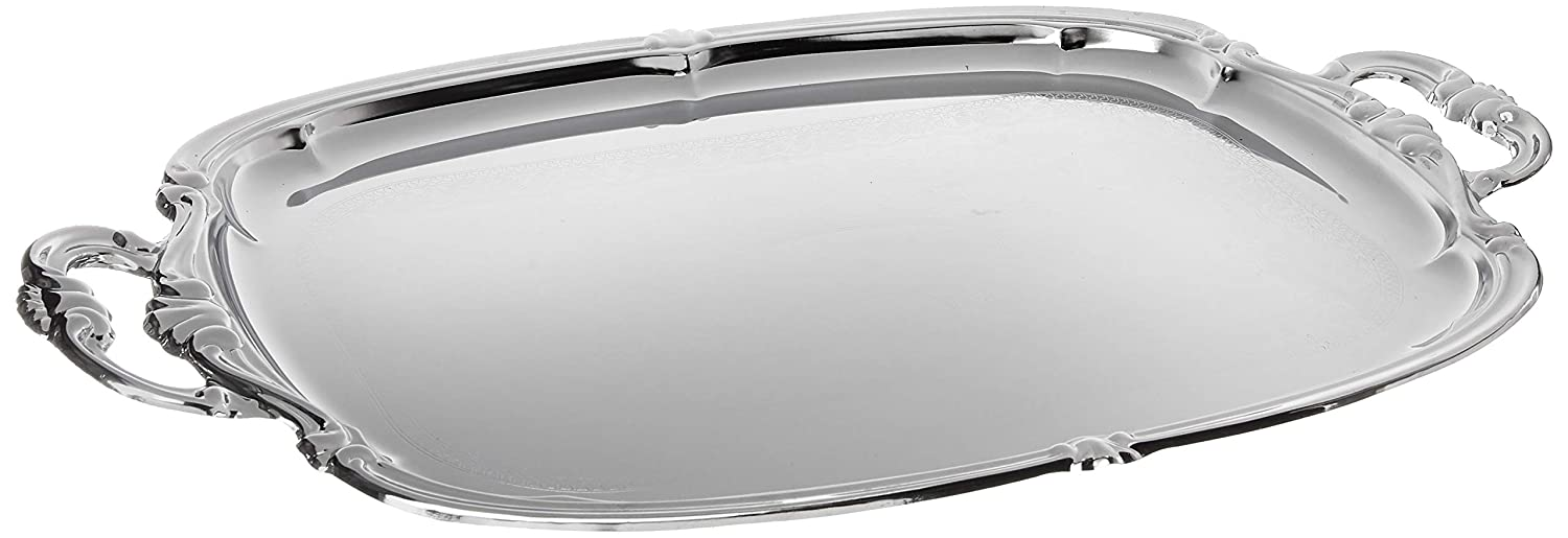 Winco CMT-1912 Oblong Tray with Integrated Handle, Chrome Winco USA
