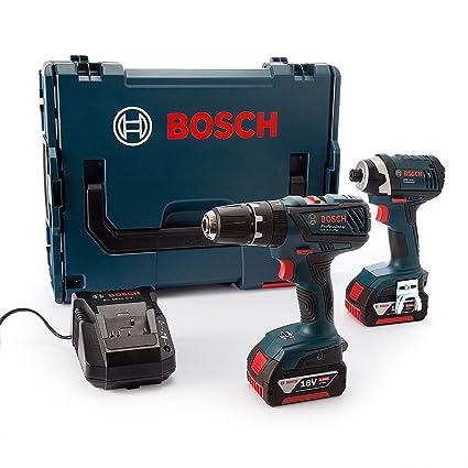 ef2be752945e8 Bosch Professional GSB 18-2-LI Cordless Combi Drill + GDR 18-LI ...