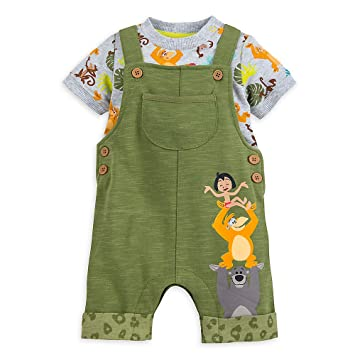 Amazon Com Disney The Jungle Book Dungaree Set For Baby Size 3 6 Mo