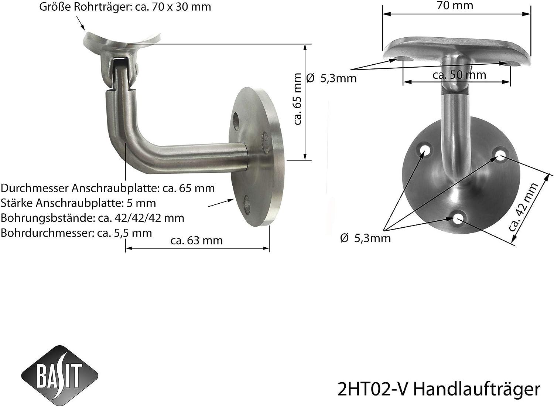 Ring starr Modell:WT20 Tr/äger Edelstahl Handlauftr/äger Gel/änder Handlaufhalter Wandtr/äger mit//ohne Gelenk /Ø42