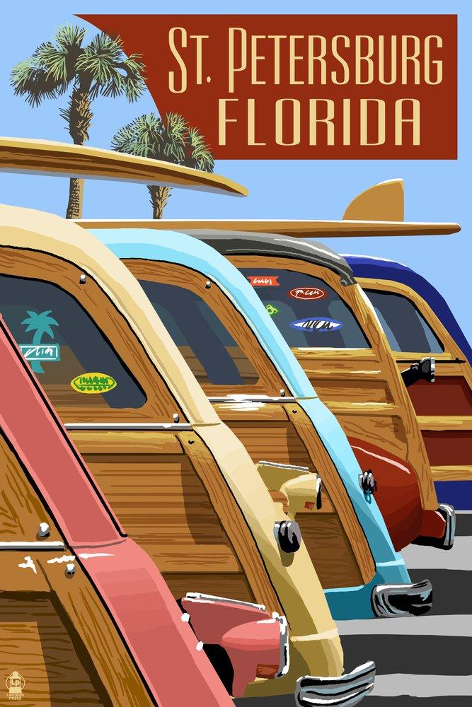 サンクトペテルブルク、フロリダ州 – Woodies Lined Up 36 x 54 Giclee Print LANT-44354-36x54 36 x 54 Giclee Print  B017E9Z8BU