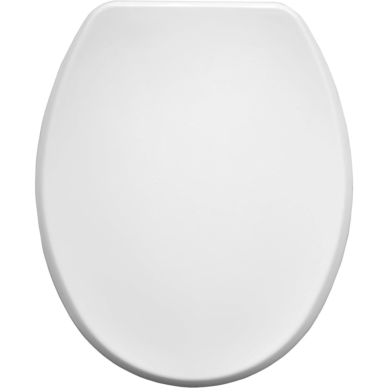 Bemis Memphis 4402CP colore: bianco con cerniere cromate Tavoletta WC in legno modellato