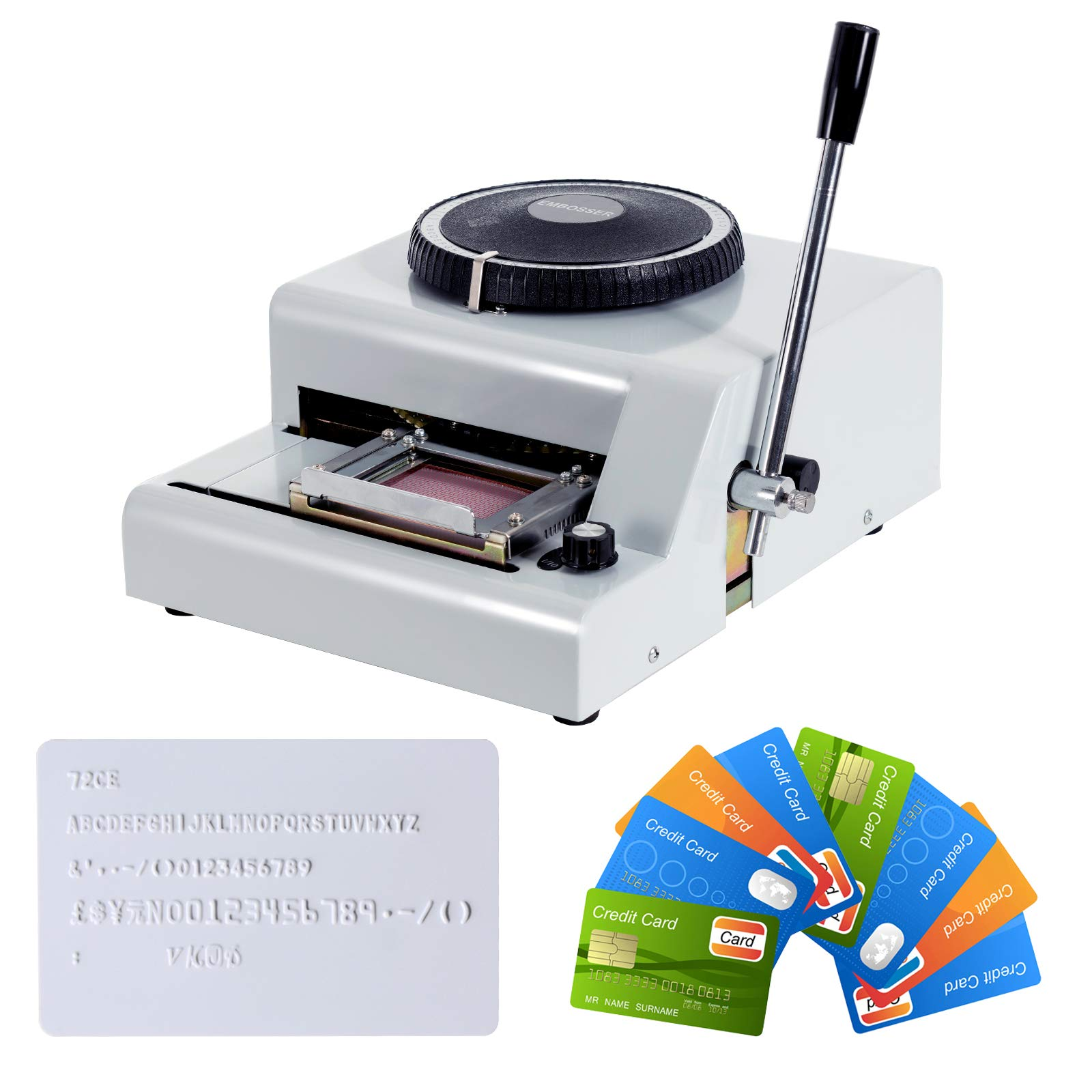SUNCOO Embossing Machine Letter Manual Card Embosser Stamping PVC Machine 72 Character Credit Card Embossing