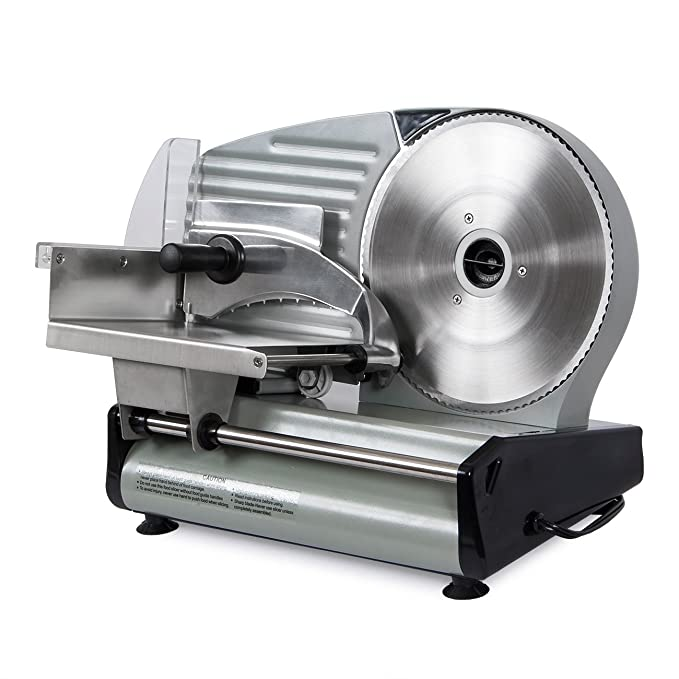"Della 8.7"" Commercial Electric Meat Slicer Blade Deli Cutter – Best Commercial Grade Meat Slicer"