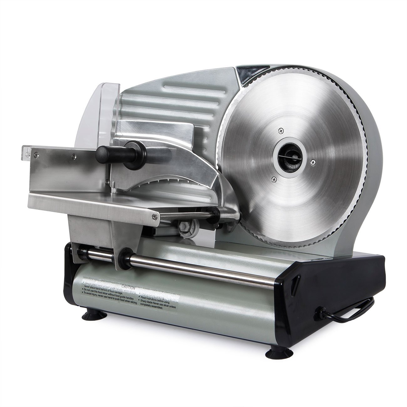 Electric Commercial Meat Slicer, Machine Food Cutting, Deli Slice Veggie Cutter Kitchen 8.7'' Blade 180W by Snow Shop Everything (Image #1)