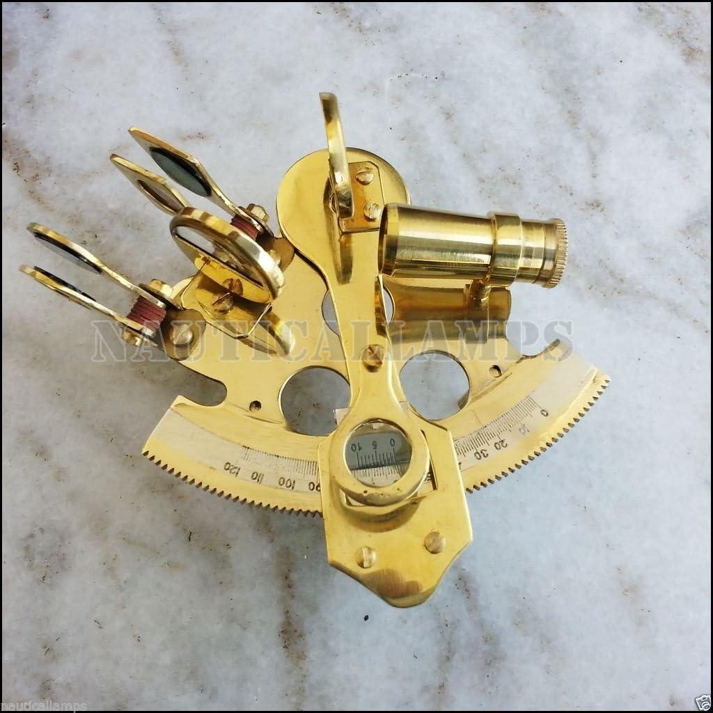 Navy Brass Astrolabe Nautical Sextant Mini Navigational Instruments Vintage Gift
