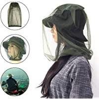 2 Pack Mosquito Repellent Head Net, TERSELY Face Netting Mask for Bugs, Gnats, No See Ums and Other Insects, Protection for Any Outdoor Lover- with Two Free Carry Bags