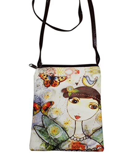 c3935fb78a267 Amazon.com: Just Ermo Butterfly Themed Small Shoulder Bag: Clothing
