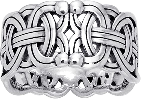 925 Sterling Silver Braided Design Ring Size 10 14