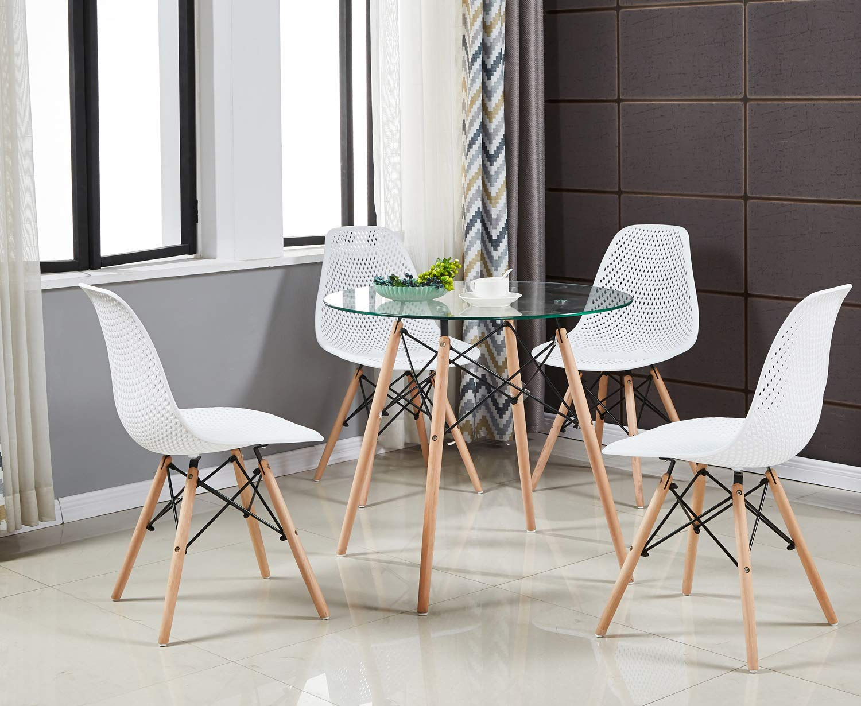 Tavolo Da Pranzo Rotondo : Tavolo da pranzo rotondo di vetro tavolo da cucina in stile
