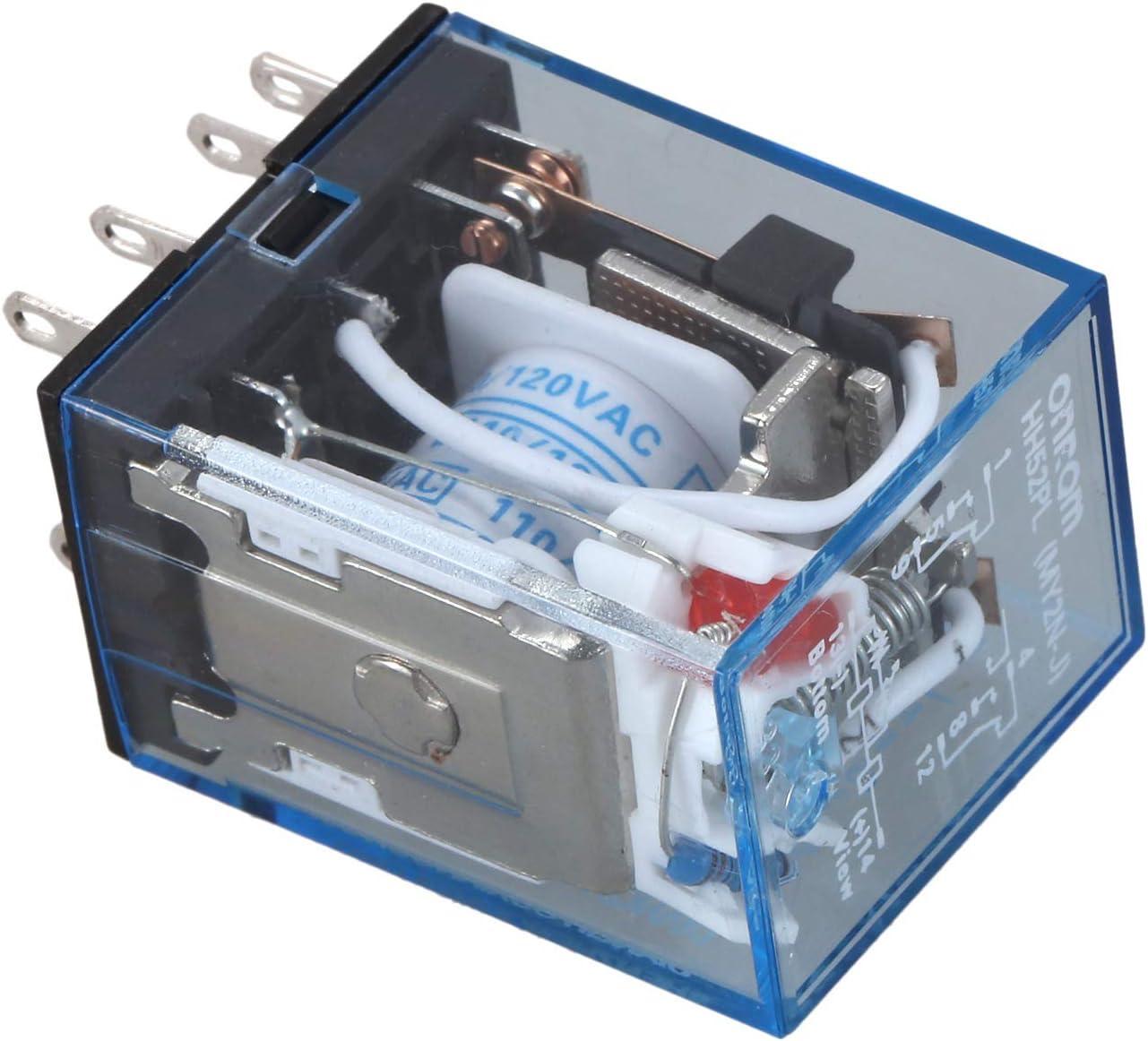 BMYUK HH52P Bobine CA 110V DPDT Relais de puissance electromagnetique 8 broches 8P