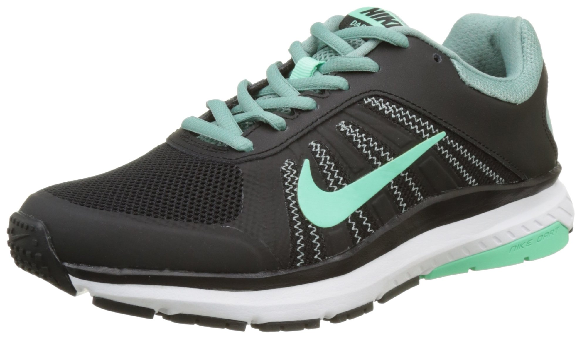 Nike Womens Dart 12 Running Trainers 831535 Sneakers Shoes (US 6.5, Black Green Glow Cannon 005)