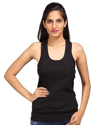 c5be6983c7e958 ALBATROZ Cotton T Back Ladies Plain Spaghetti Tank Top Vest Camisole Sando  for Women (M
