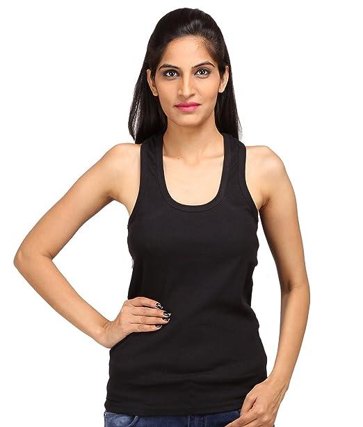 961c9f411f ALBATROZ Cotton T Back Ladies Plain Spaghetti Tank Top Vest Camisole Sando  for Women (M