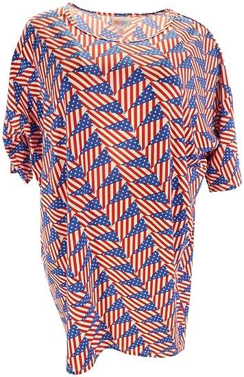 13595442ff9 Lularoe Irma (Medium) (American Flags) at Amazon Women's Clothing store: