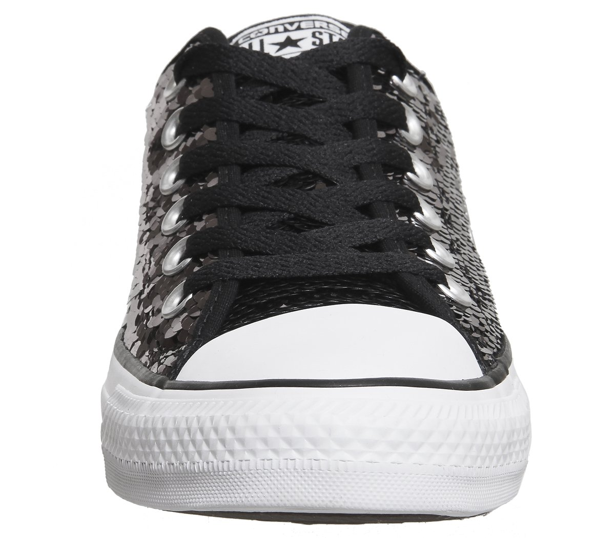 Converse Chuck Taylor Sequin Women's Sneakers B06XJCDR59 9 B US|Gunmetal/White/Black