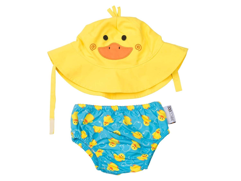 Zoocchini Swim Diaper and Sun Hat Set Duck 6-12m Medium