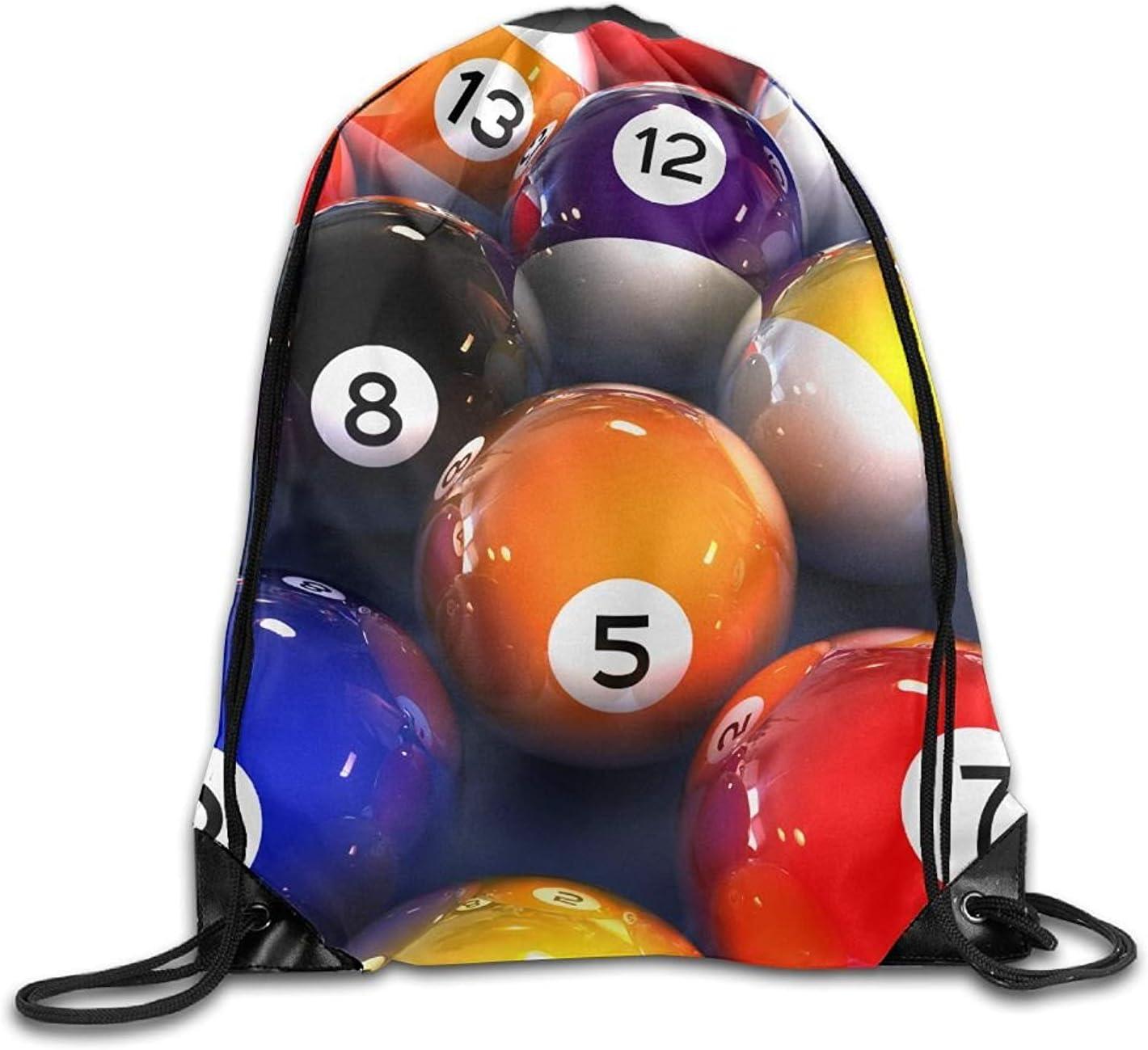 Wellay Billiard - Mochila con diseño de Bolas de Billar en 3D, con ...