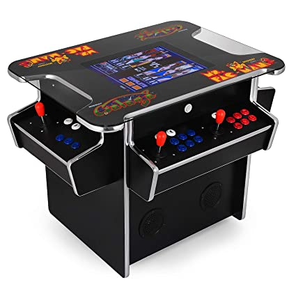 e2d5717fe196 Happybuy 3 Sided Cocktail Arcade Game Machine with 1000+ Games Full Size 19  Inch Screen