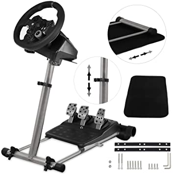 8a02ee8e2aa VEVOR Steering Wheel Stand Steering Wheel Column 360° Stepless Adjustable Wheel  Stand Pro Shifter Mount